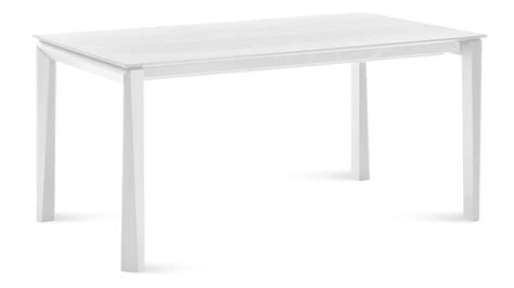 Dining Table White Extendable Rectangular White Matte Lacquer Cortona Dining