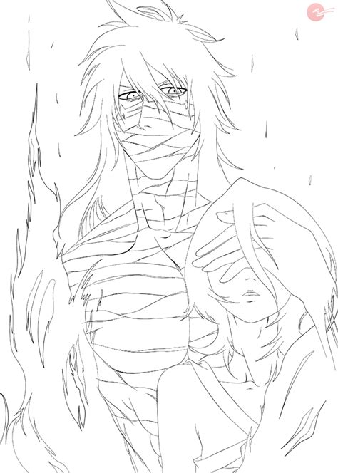 bleach ichigo coloring pages sketch coloring page