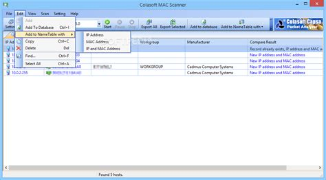 ip tool mac colasoft mac scanner