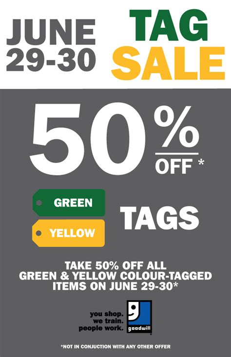 goodwill color tags colour tag sale at goodwill goodwill industries