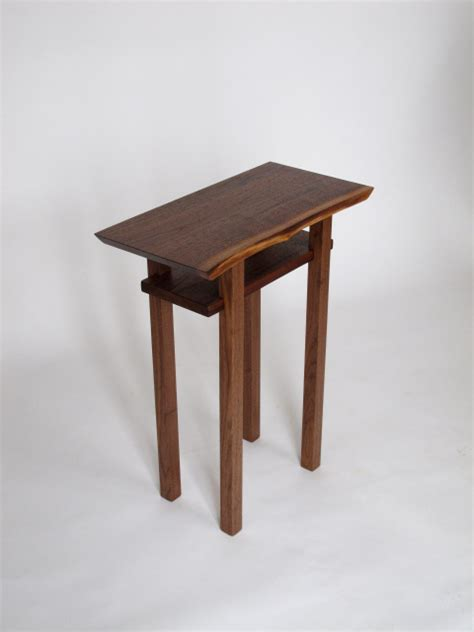small walnut end table artistic wood end table with shelf a accent table