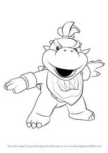 learn draw bowser jr super mario super mario step step drawing tutorials
