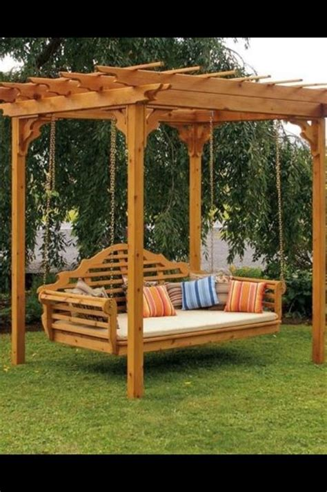 adult wooden swing turning the backyard into a playground cool projects