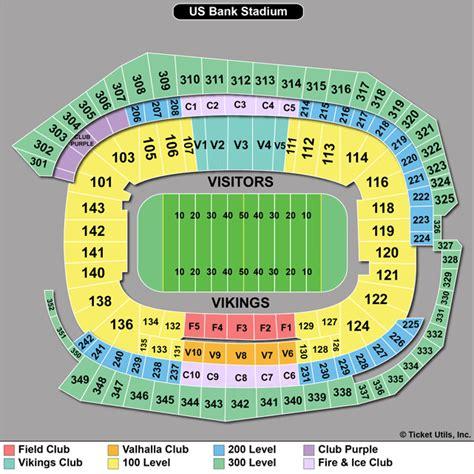 seat bank seating chart new vikings stadium brokeasshome