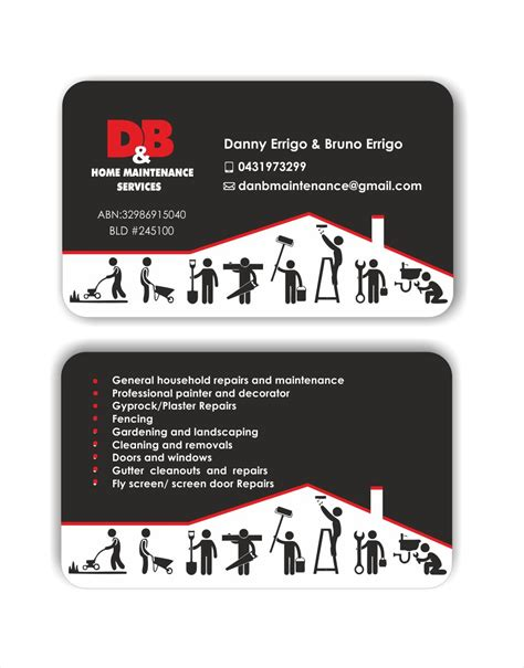 by design home business modern professional business card design for d b home