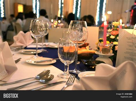 how to set up a dinner table gala dinner table setup image photo bigstock