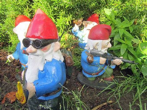 garden gnomes with guns more combat garden gnomes awesome guns and gnomes