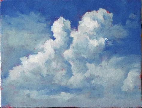 Faux Paint Techniques puffy clouds 2 painting by paul dinwiddie