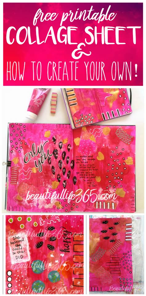 design free collage online free printable collage sheet how to create collage papers