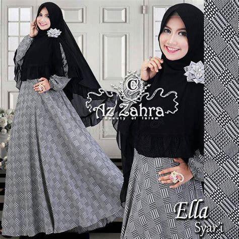 Zara Syari Dress Khimar Dress Only Ella C Baju Muslim Gamis Modern