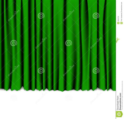 a curtain of green full text green curtain from the theater royalty free stock photo