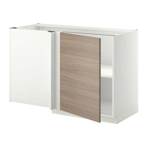 meuble d angle de cuisine ikea metod 201 l 233 ment bas d angle tablette blanc brokhult motif
