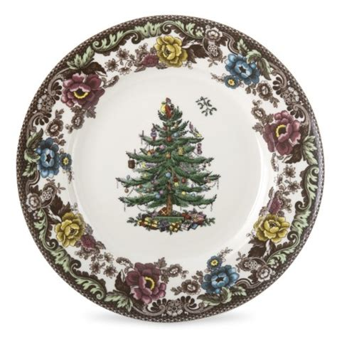 spode christmas tree grove dinner plate set of 4 picture