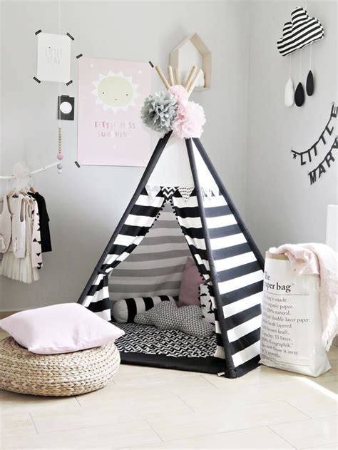 kids bedroom teepee tolles tippi in schwarz wei 223 perfekt f 252 r helle