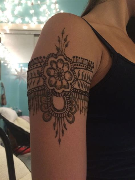 flower henna arm band my henna designs pinterest