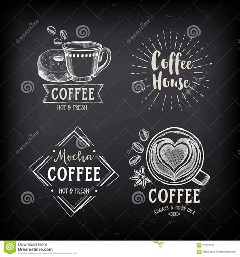 coffee shop graphic design coffee restaurant cafe badges template design stock