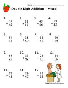double digit addition worksheet have fun teaching