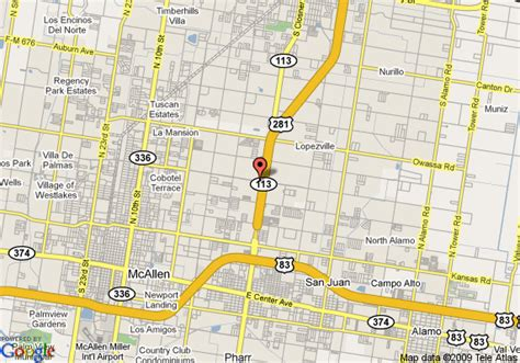 map of pharr texas map of inn express pharr pharr
