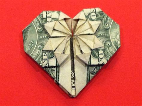 Money Origami Tutorial - 36 best images about hearts to inspire on free