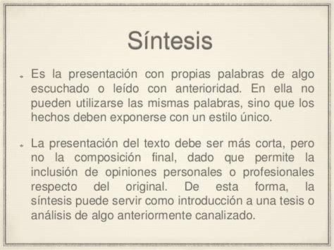 Resumen Y Sintesis by Diferencias Entre Resumen Y S 237 Ntesis