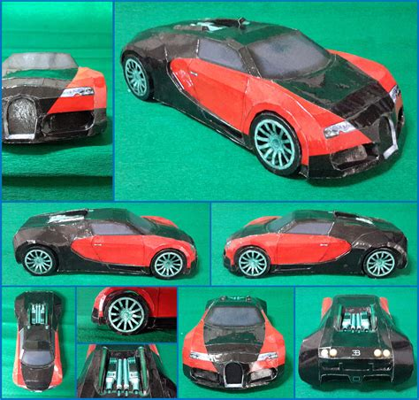 Bugatti Veyron Papercraft - bugatti veyron papercraft by mironius on deviantart