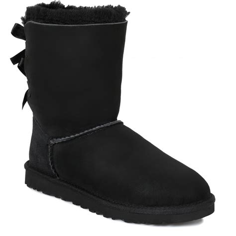 ugg womens black bailey bow boots