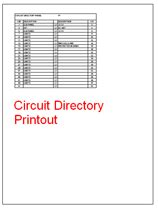 Circuit Directory Template by Panel Schedule Software