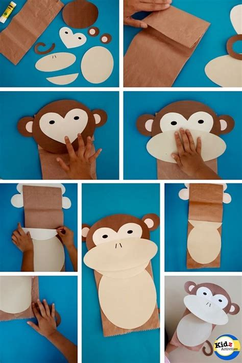 monkey paper bag puppet template 25 unique monkey template ideas on monkey