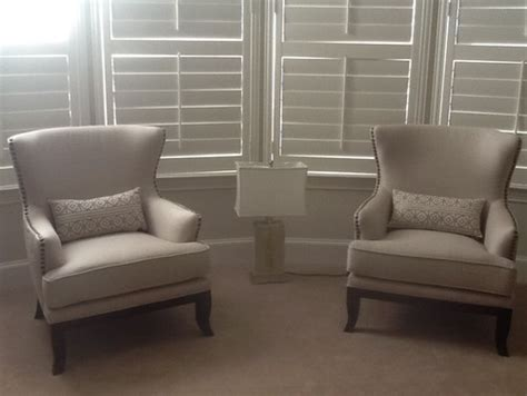 What table would work between these two bedroom chairs