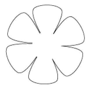 flores de 5 petalos para imprimir plantillas de flores de 6 petalos buscar con google