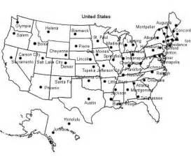 united states map printable with capitals for