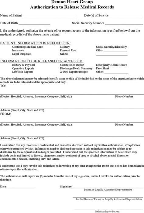 Blank Medical Records Release Form Beneficialholdings Info Records Consent Form Template