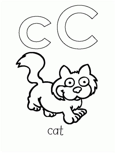 free letter c coloring pages coloring home