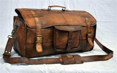 Handmade Luggage - s leather handmade vintage duffle luggage weekend