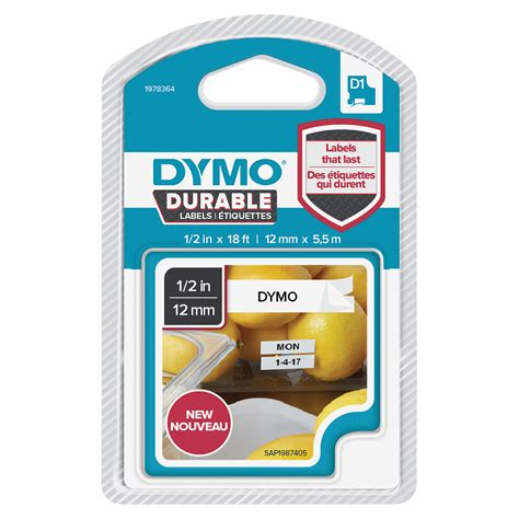 dymo label cassette dymo d1 durable label cassette grand