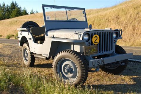 Willys Jeep Restoration Classic Automotive 187 1944 Willys Mb Navy Jeep