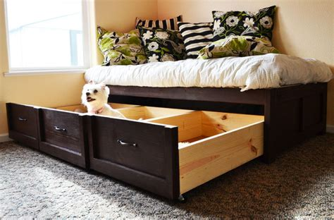 Daybed With Storage Drawers White Daybed With Storage Trundle Drawers Diy Projects