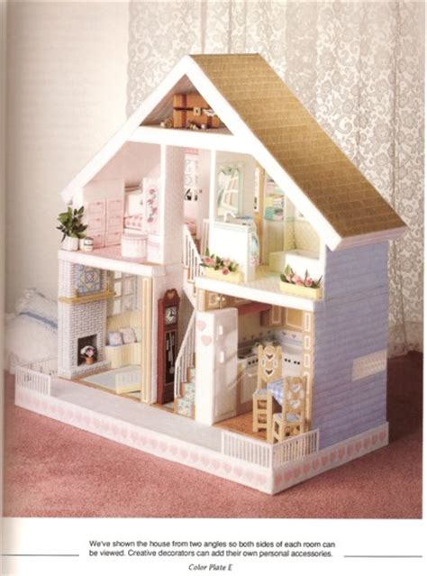 fashion doll house plastic canvas plastic canvas doll house sought after because of its