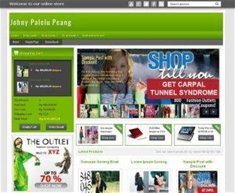 template toko online gratis 2014 download template blog toko online gratis revce blog