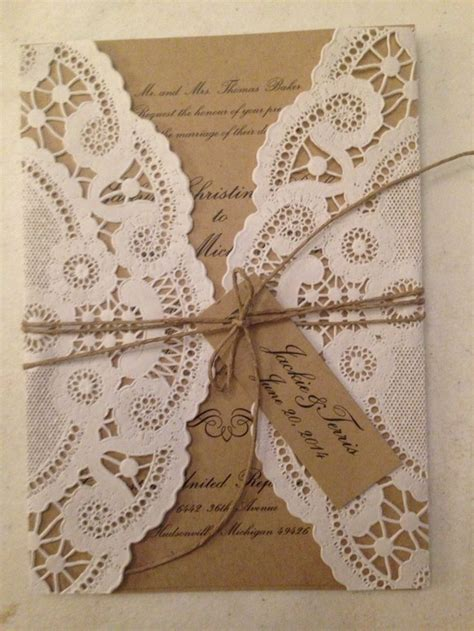 Paper Lace Wedding Invitations by 17 Best Ideas About Paper Doilies Wedding On
