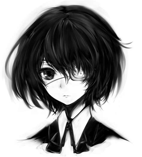 black x black manga 有没有想这样又恐怖又好看的动漫头像 百度知道