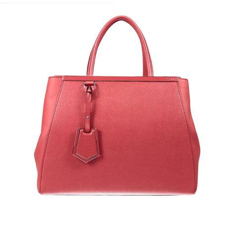 Fendi Coral Pink Embossed Satin Handbag by Fendi Handbag 2 Jours Medium Leather In Pink Coral