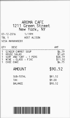 Itemized Restaurant Receipt Template by Restaurant Receipt Itemized Useful Photos Yet Itemized 4