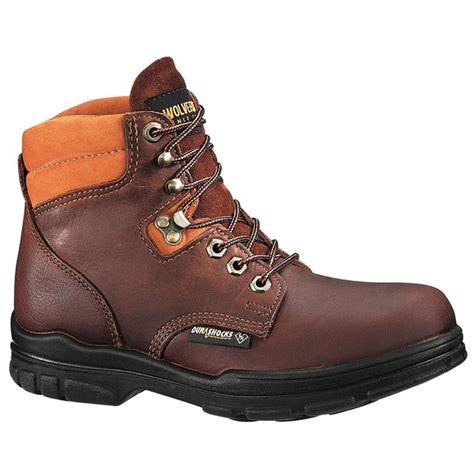 wolverine boots womens s wolverine 174 durashocks 174 6 quot steel toe eh work boots