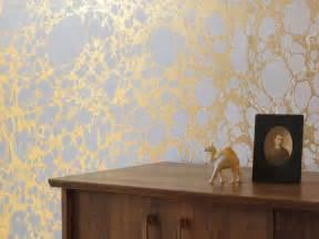 Wall Trellis Design Metallic Marble Wallpaper By Calico Wallpaper Design Milk
