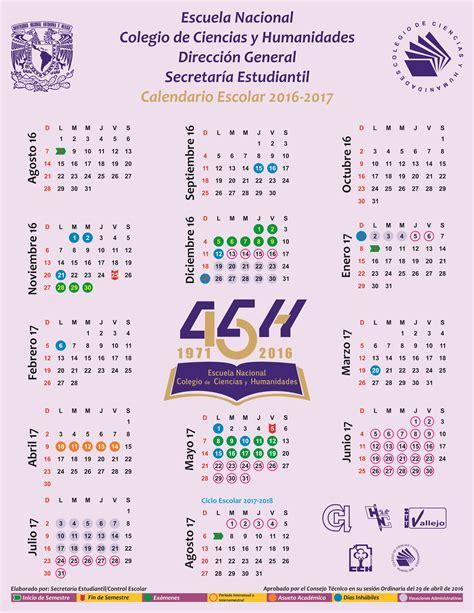 Calendario Escolar 2017 Unam Calendario Portal Acad 233 Mico Cch