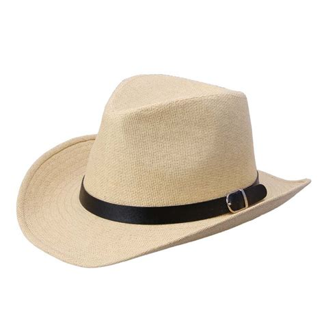 fashion straw fedora summer wide brim sun hat