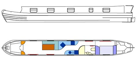 canal boat line drawing one secret model narrowboat plans here