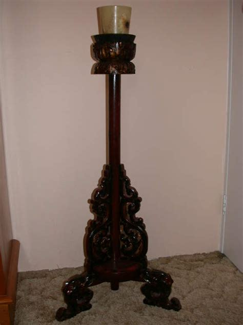 antique oriental chinese china brass and wood candlestick www emwa com au japanese cloisonne jewellery box