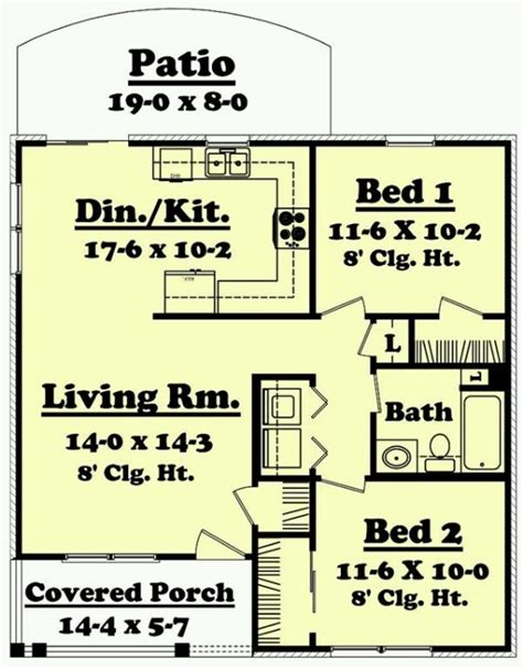 Tiny House Plans Under 850 Square Feet | 850 sq ft dream home tiny house pinterest